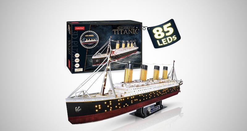 LED 3D Puzzle Titanic Ship