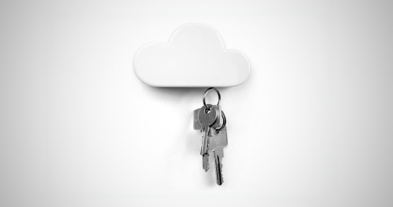 White Cloud Key Holder