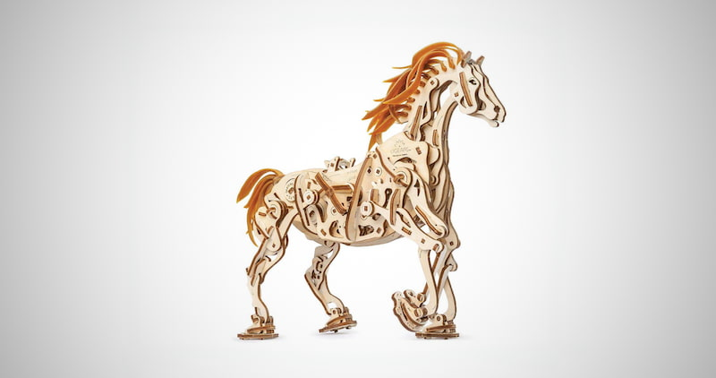 Mechanical Horse Wooden Puzzle