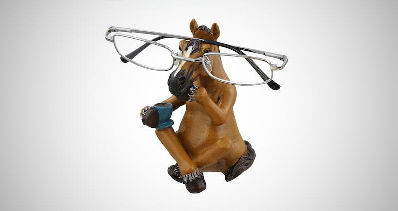 Whimsical Sitting Horse Eyeglasses Holder