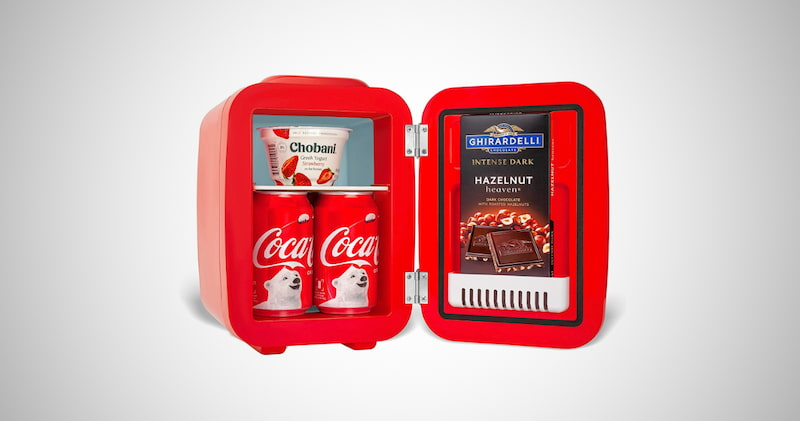 Cooluli Retro Coca-Cola Mini Fridge