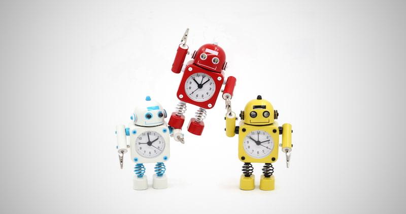 Betus Non-Ticking Robot Alarm Clock