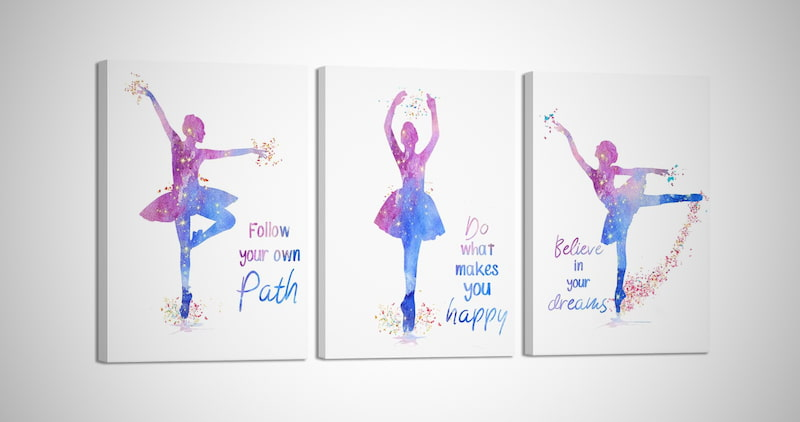 Ballet Dancers Wall Painting