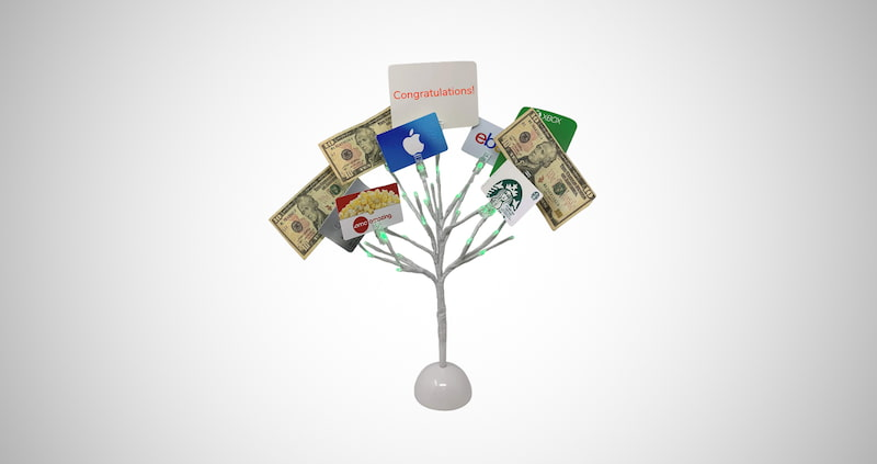 LED Lighted Money Tree