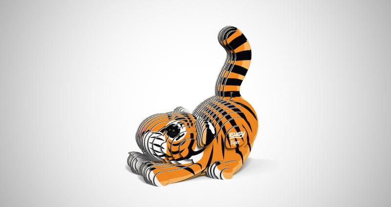 Tiger Eco-Friendly 3D Paper Puzzle