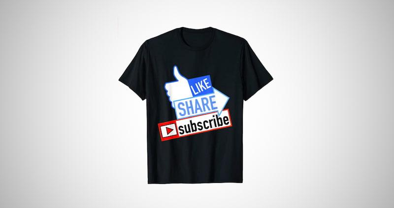 Like Share Subscribe T-Shirt